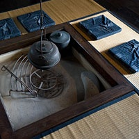 Japan - Traditional Irori Hearth in Country House