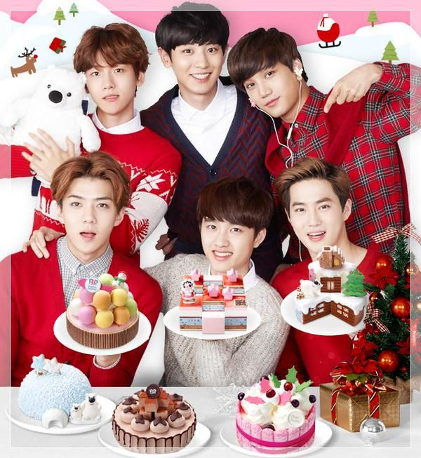 EXO-K Members Endorse Baskin Robbins Korea | Koogle TV <<< Baskin Robbins' ice cream cakes in Korea are awesome!