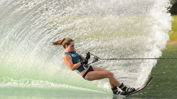 Lauren Harris competes in the Girls 3 Slalom at the AWSA (American Water Ski Association) 2013 Southern Regional Championships. See more photos from the three-day event on AL.com