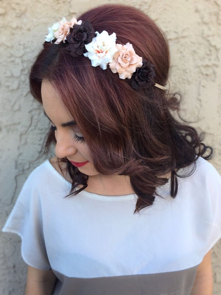 Brown Rose Headband #C1071
