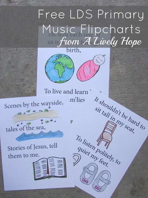 Master List of all the LDS Primary Song flipcharts available at A Lively Hope.
