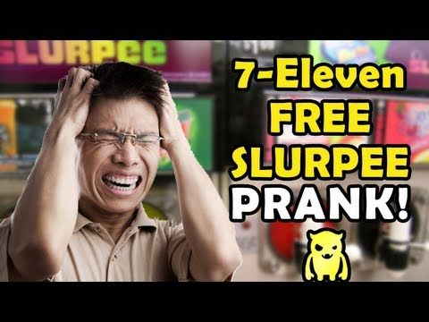 7-Eleven Free Slurpee Day Prank (Buk Lau) - YouTube