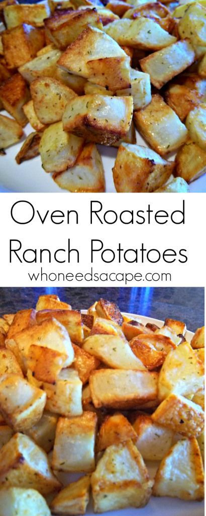Oven Roasted Ranch Potatoes an easy side dish that, most importantly, the kid will approve! Make these delicious potatoes for a family dinner night, or as a side for a holiday meal!