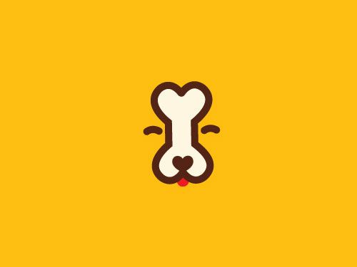 cookiesfordogs / negative space logo / icon / image only