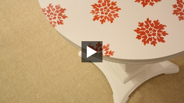 #DIY Table With Stencils | House & Home