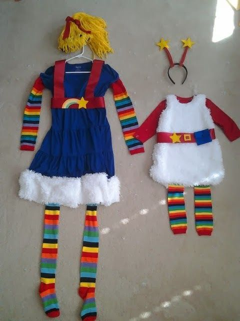 Mine And My Daughter S Halloween Costumes Rainbow Brite