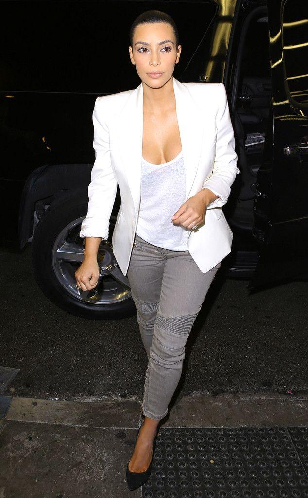 We love Kim Kardashian's simple, polished look!