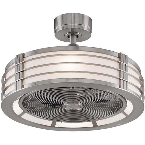View Fanimation FP7964BN Contemporary Beckwith Ceiling Fan in Brushed Nickel at Farreys.com.