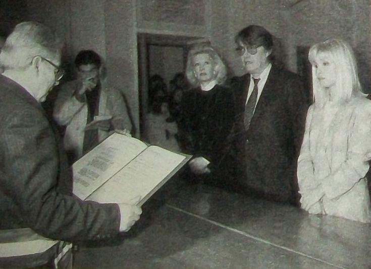 Fabrizio e Dori nel giorno del loro matrimonio a Tempio Pausania nel 1989