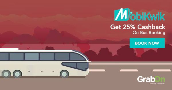 Book your bus tickets online to get #cashback from #MobiKwik.  #travel #vacation #wednesdaywisdom #holiday