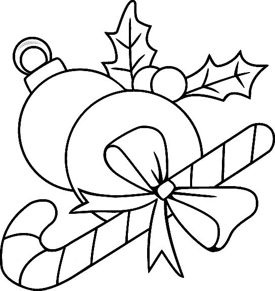 Free Coloring Pages Christmas Ornaments Page