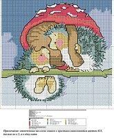 "Cross-stitch Hedgehog Shelter You...    Gallery.ru / Olsha - Альбом ""4"""