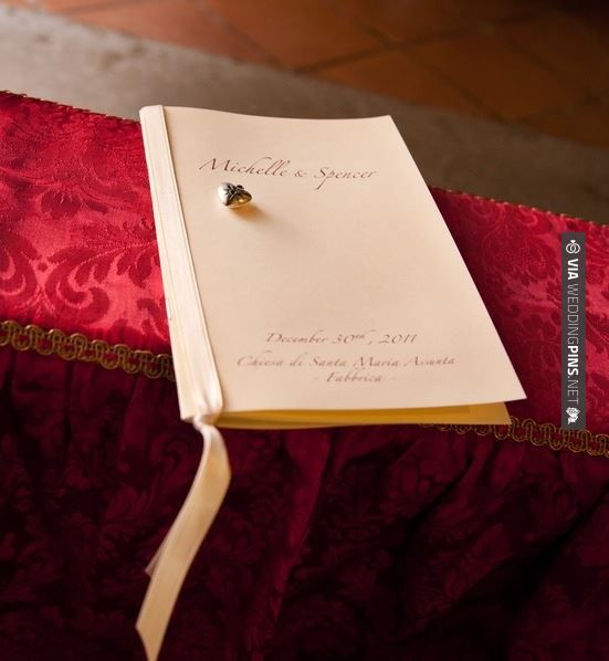 Amazing - Wedding program (photo by Lucibelli Photography) | CHECK OUT MORE GREAT RED WEDDING IDEAS AT WEDDINGPINS.NET | #weddings #wedding #red #redwedding #thecolorred #events #forweddings #ilovered #purple #fire #bright #hot #love #romance #valentines