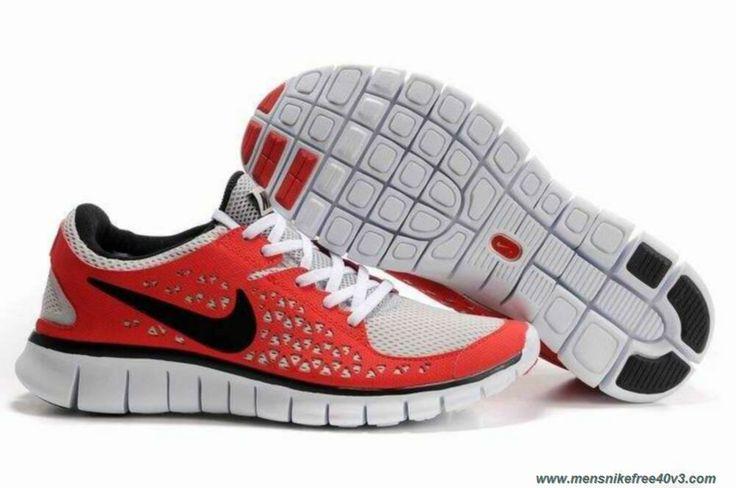 Womens Red Black 395912-120 Nike Free Run Sale