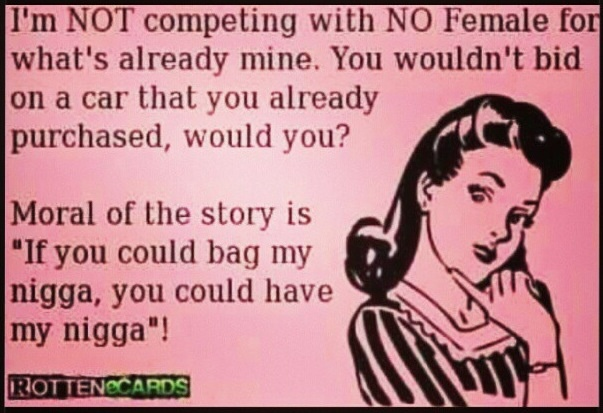 Too perfect, cuz a badd bitch would know this & thats one thing for sure..I AIN'T GOT NO WORRIES!