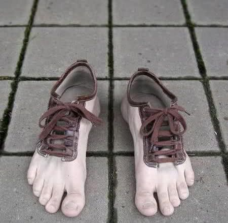 Funny but kinda creepy as well!!!!   Bizarre Shoes | Golberz.Com