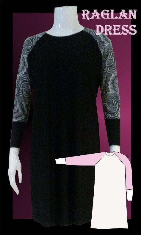 Raglan dress sewing pattern, Athleisure Fashion