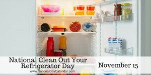 National Clean Out Your Refrigerator Day - November 15