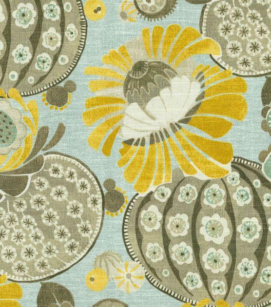 livingroom curtains   Home Dec Print Fabric-Waverly Copacabana Flint