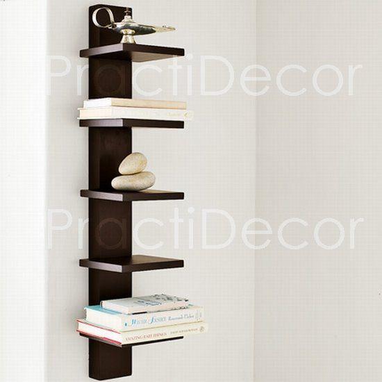 Estantes flotantes repisas bibliotecas muebles practidecor for Repisas espacios pequenos