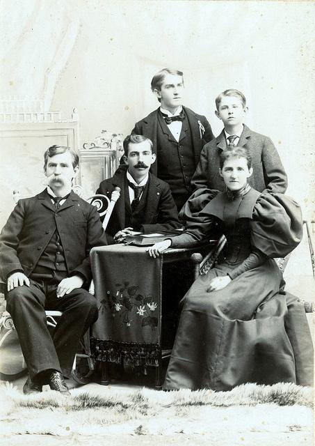 A family portrait from Santa Ana, California. Circa 1885