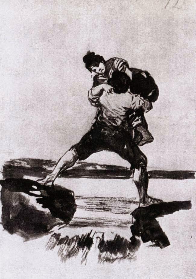 Χωρικός μεταφέρει γυναίκα (1812-23)