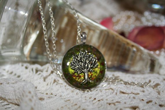 Tree of Life Resin Pendant Necklace by JewelleryByJody on Etsy