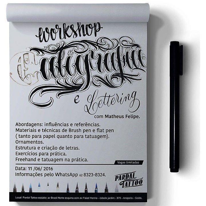 Bom dia galera. Venho anunciar para vocês o meu primeiro workshop de caligrafia e lettering que irei ministrar em Anápolis. Esse workshop tem como foco tatuadores que queiram aperfeiçoar na área do lettering que tanto vem crescendo e também para designers ou para você que quer começar a aprender a arte do lettering e da caligrafia. O investimento para esse workshop será de 300 reais. As inscrições poderão ser feitas até o dia 9 de Junho diretamente no @pardaltattoostudio para quem for de…