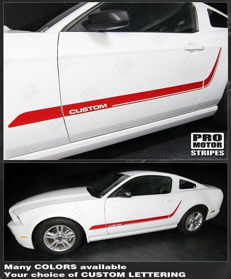 Ford Mustang 2005-2014 Lower Door Side Accent Stripes