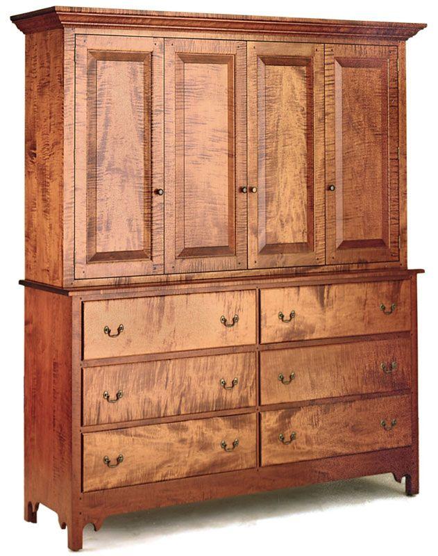 Double Walden Media Dresser   Ohio Hardwood Furniture