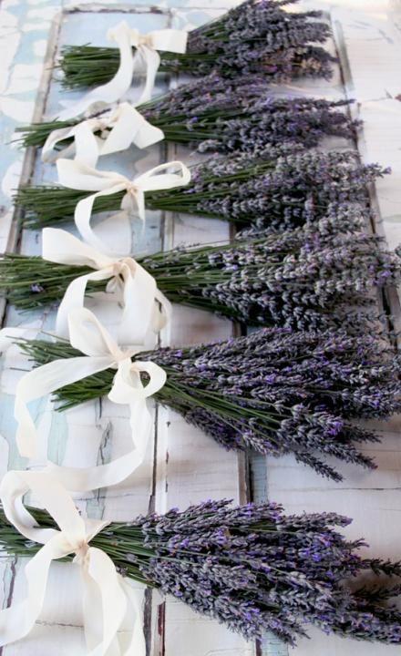 Lavander wedding flowers