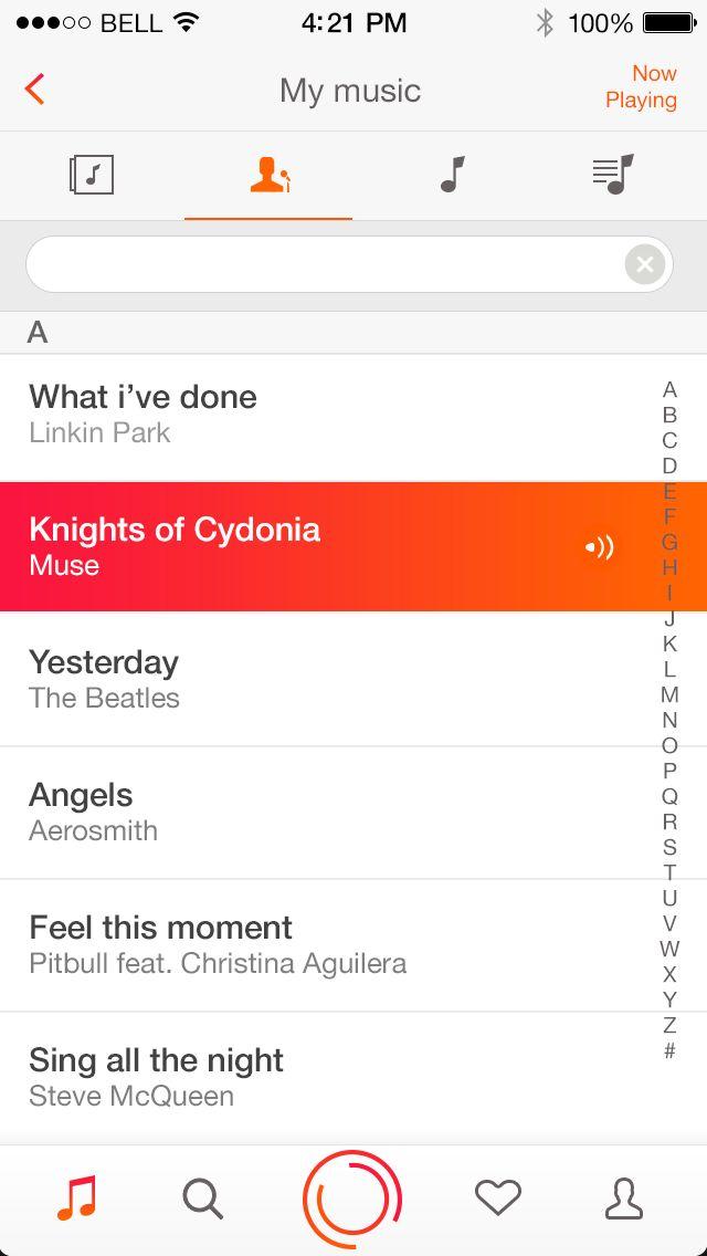mymusic redesign