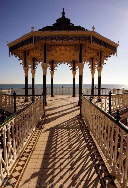 Hove Bandstand (also known locally as the 'Birdcage'). The Bandstand is thought to be one of the greatest examples of a Victorian bandstand surviving in England.