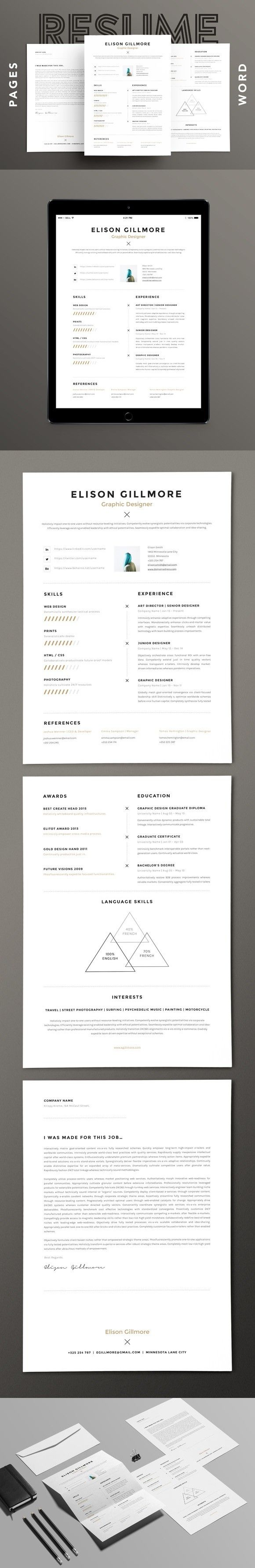 The  Best Unique Resume Ideas On   Resume Ideas