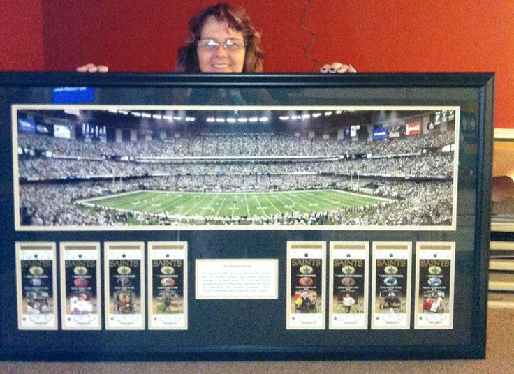 New Orleans Saints Man Cave Ideas : Best images about sports framing ideas on pinterest