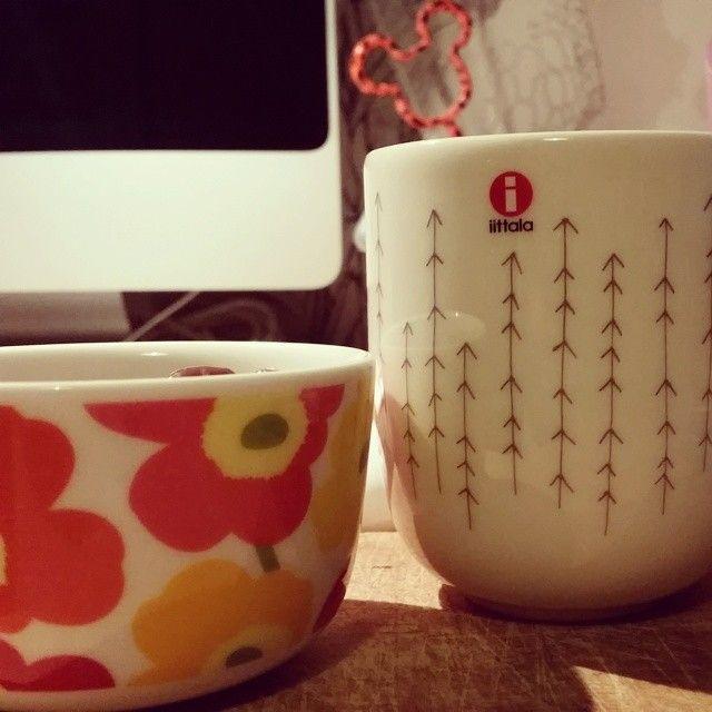 Marimekko Unikko - Iittala Sarjaton Metsä - bowl and mug