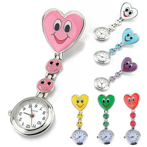 2015 New Fashion Ladies Women's Cute Smiling Faces Heart Clip-On Pendant Nurse Fob Brooch Pocket Watch 5H93 #>=#>=#>=#>=#> Click on the pin to check out discount price, color, size, shipping, etc. Save and like it!