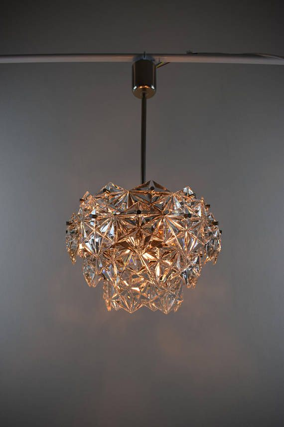 Vintage chandelier Mid century crystal chandelier 73