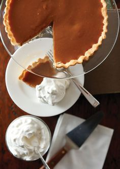 old fashioned caramel pie-almost true, except we would take the egg whites and make a baked meringue for it.