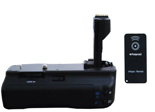 Polaroid Wireless Performance Battery Grip For Canon Eos 50D, 40D, 30D, 20D Digital Slr Cameras – Remote Shutter Release Included