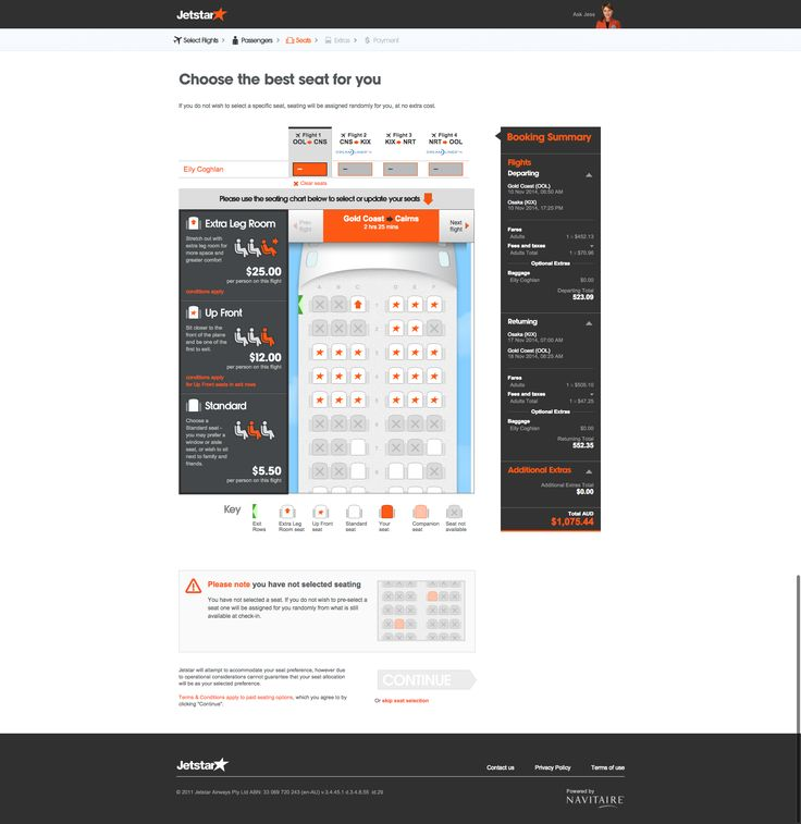 Seat Selection Jetstar UI 3x3