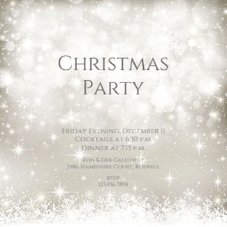christmas invitation template word