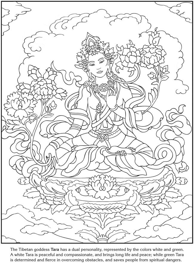 the tibetan goddess tara coloring sheet