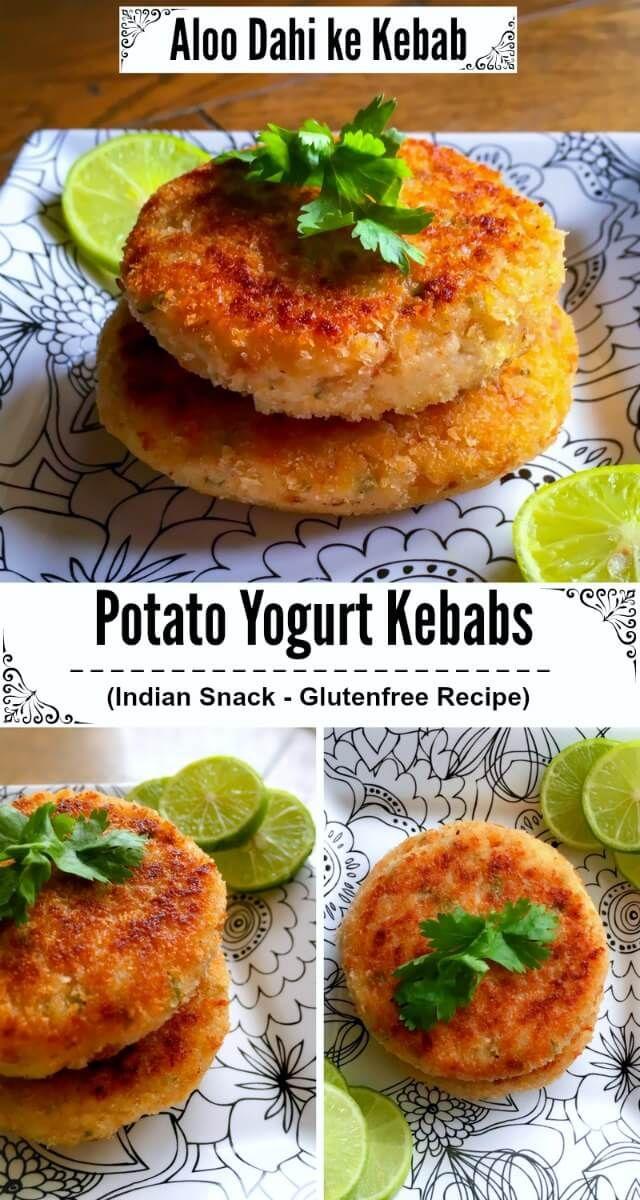 Potato Yogurt Kebabs - Aloo Dahi ke Kebab : #dahi #kebab #glutenfree #snack