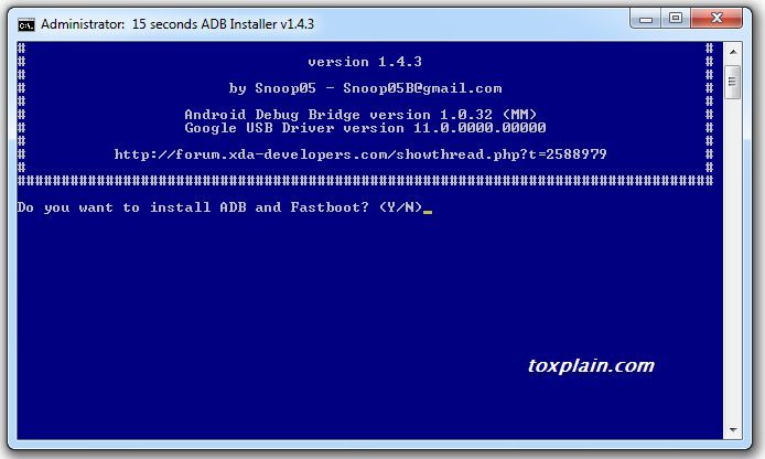Install ADB And Fastboot On Computer