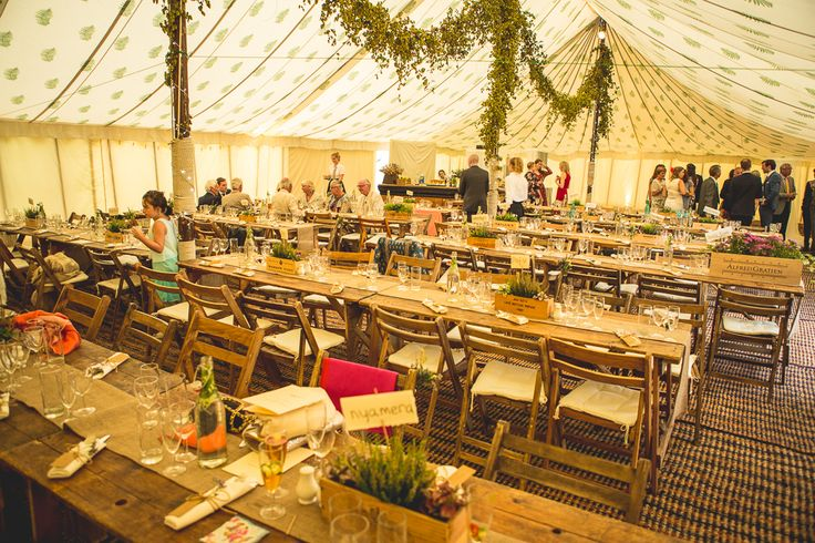 Vintage wedding within one of our Traditional Canvas Pole Tents.