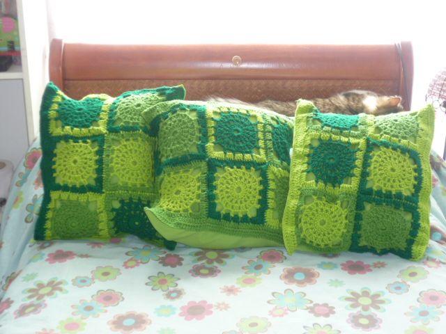 Cojin tejido crochet con hilo guajira | Hecho por MV | Pinterest