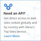 Alexa - Top 25 out of 500 Global Sites. Explore your or any site ranking too.