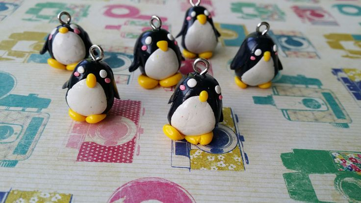 Clay penguins...small and cute!