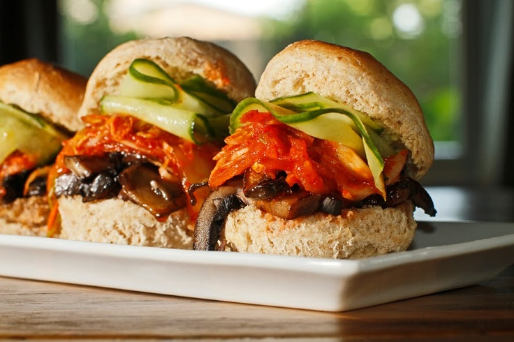 The Chubby Vegetarian: February 2013  veg kimchi chinese pear and apple sliders